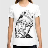 biggie smalls T-shirts featuring Biggie Smalls Stippling by Tom Brodie-Browne