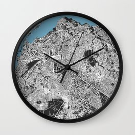 LUANDA Map Print - Angola   Black More Colors, Review My Collections Wall Clock