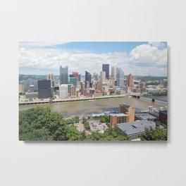 Downtown Pittsburgh Metal Print