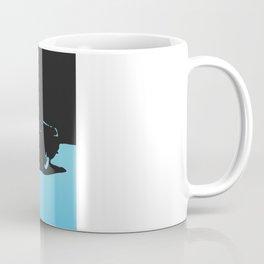 MGB, Light Blue on Black Coffee Mug