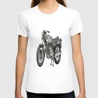 motorbike T-shirts featuring Stippled Motorbike  by Rachael Kotvojs