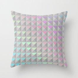 Silver Xs Throw Pillow