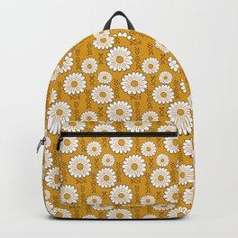 Small Harry Sunflower Shirt Flower Print Hippie Pop Art Floral Pattern Backpack