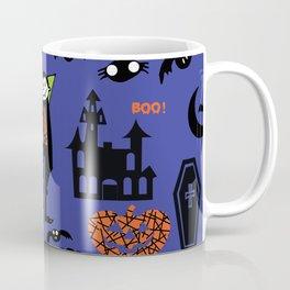 Cute Dracula and friends blue #halloween Coffee Mug