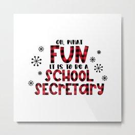 School secretary christmas, office Metal Print