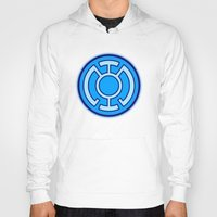 green lantern Hoodies featuring Green Lantern: Blue Lantern by The Barefoot Hatter