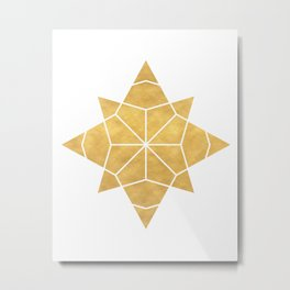 STAR SHAPE sacred geometry Metal Print