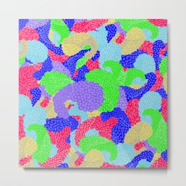 Multicolor Paisleys  Metal Print
