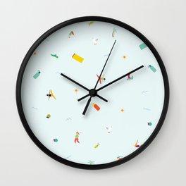 Yoga People Wall Clock