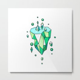 Little Emerald World Metal Print