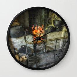 Olde Kitchen Fire Wall Clock