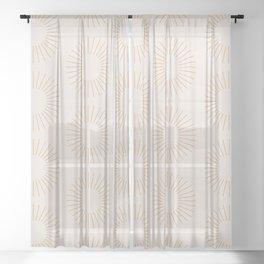 Minimalist Sunray Pattern XIV Sheer Curtain