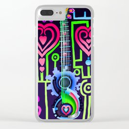 Fusion Keyblade Guitar #184 - Dual Disk & Overdrive Clear iPhone Case