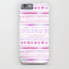 Pastel Pink Watercolor Tribal Pattern  iPhone Case