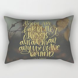 Better Things Ahead Rectangular Pillow