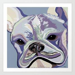 French Bulldog Denim Colors Art Print