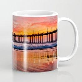 Sunset At The Huntington Beach Pier  -  2/28/16 Coffee Mug