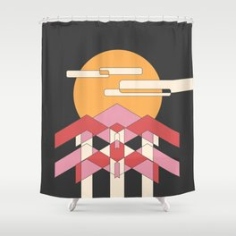 View From the Forest at Night Shower Curtain