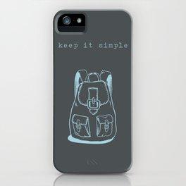 Simple living iPhone Case