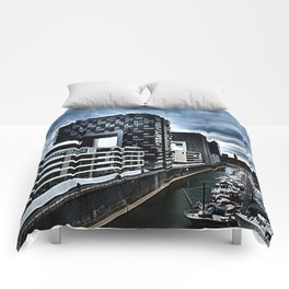 Harbor_Cologne_Germany Comforters
