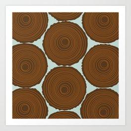 Whimsical Wood Stack Art Print