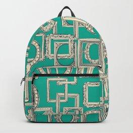 picture frames aplenty indigo jade Backpack