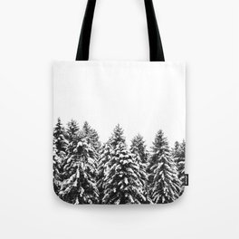 White Snow Forest No1 Tote Bag