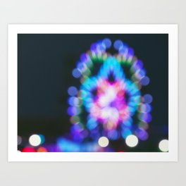 Abstract Ferris Wheel Lights Art Print