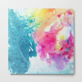 Watercolor Splashes Metal Print