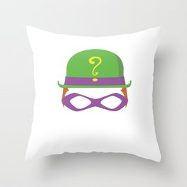 Riddler Throw Pillow