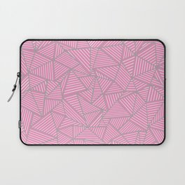 Ab Out Double Pink and Grey Laptop Sleeve