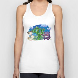 Meowth and Gengar Celebrating Holidays in Texas Unisex Tank Top
