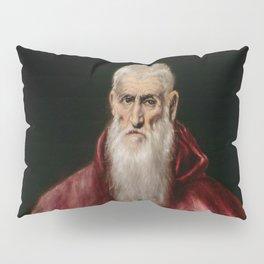 """El Greco (Domenikos Theotokopoulos) """"Saint Jerome as Scholar"""" Pillow Sham"""