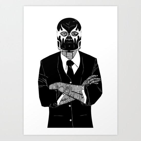 SOLAR SQUAD MAN 2 Art Print