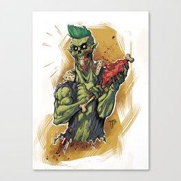 Yummy Zombie Canvas Print