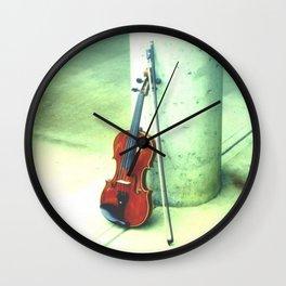 Fall Violin Wall Clock