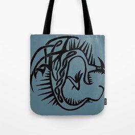 Celtic Knotwork Deadly Nadder (Black) Tote Bag