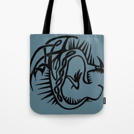 Celtic Knotwork Deadly Nadder (Black) Tote Bag
