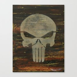 Apocalyptic Punisher painting Canvas Print
