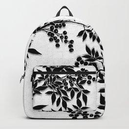 Black and White Leaf Toile Backpack
