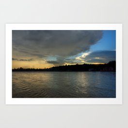Evening with the Ganges... Art Print