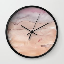 3   | Abstract Minimal Watercolor Painting | 191223 Wall Clock