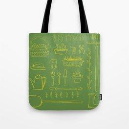 Gardening and Farming! - illustration pattern Tote Bag