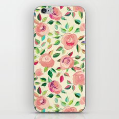 Pastel Roses in Blush Pink and Cream  iPhone Skin