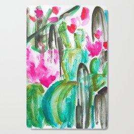Pink Happy Plants Cutting Board
