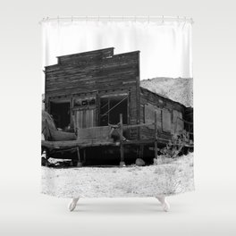 Old Butte Mining Camp in Randsburg, California Shower Curtain