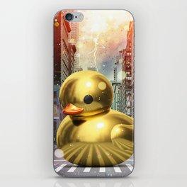 The Golden Rubber Duck iPhone Skin