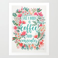 Coffee & Concealer – Juicy Palette Art Print