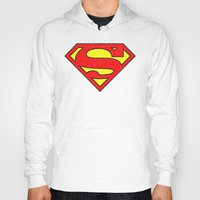 superman Hoodies featuring Superman by Alisa Galitsyna