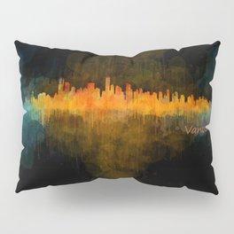 Vancouver Canada City Skyline Hq v04 dark Pillow Sham